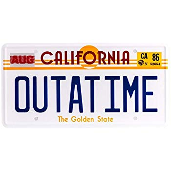 OUTATIME license plate from Back to the future